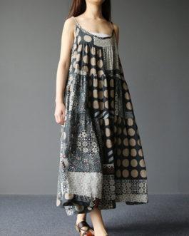 Bohemian Spaghetti Strap Vintage Long Maxi Dresses