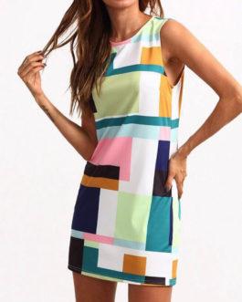 Casual Bodycon Sleeveless O-neck Mini Dresses