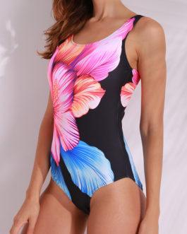 Floral Wireless Backless One Pieces Swimwear
