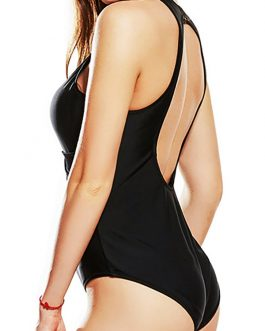 Sexy Back Cut Wireless One Piece Swimwear