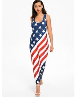 American Flag Racerback Maxi Dress