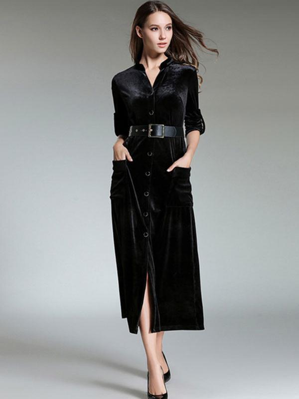 12da26d48d6 ... Black Shirt Dresses V Neck Long Sleeve Maxi Dress For Women. Sale!  Previous Product · Next Product. 🔍.  90.00  70.99