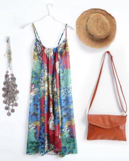 Bohemian Floral Swing Dress