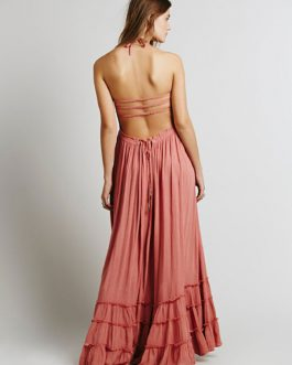 Boho Backless Straps Dresses
