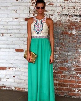Boho Chiffon Sleeveless Long Maxi Dresses