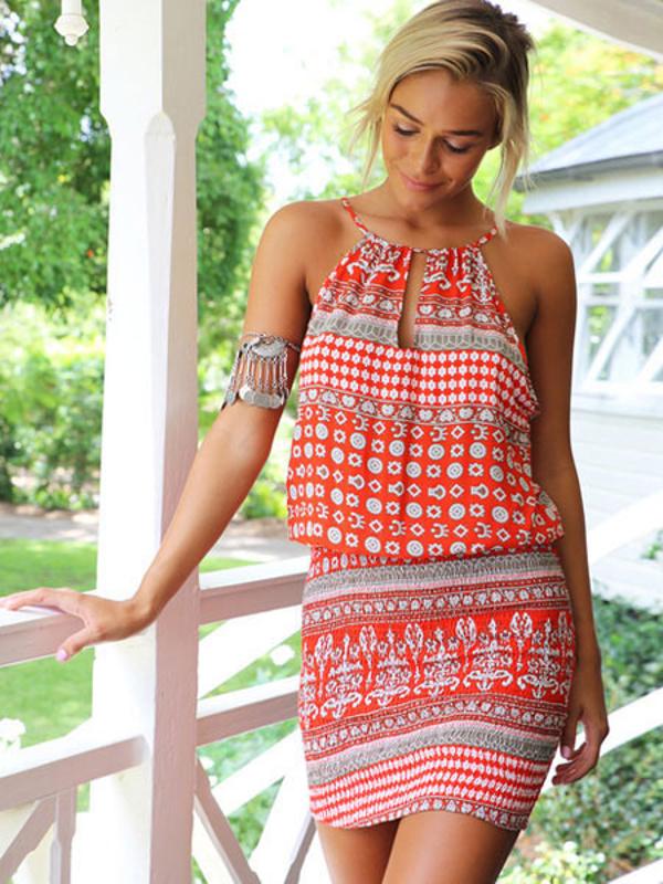 9edc3290657b Boho Halter Summer Dresses - Power Day Sale