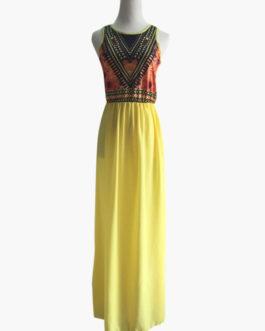 Boho Sleeveless Chiffon Maxi Dresses