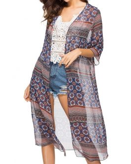 Chiffon Cardigan Outer Middle Sleeve Cover Up