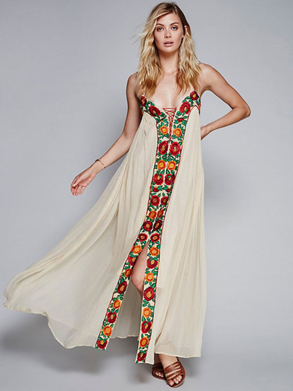 Long Maxi Dress with Straps