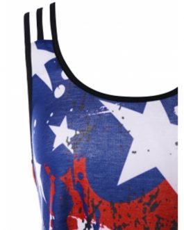 Criss Cross American Flag Tank Top