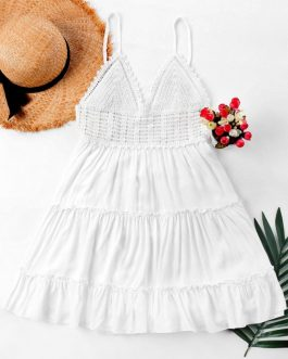 Crochet Panel Cami Dresses