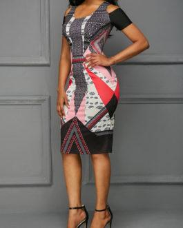 Cutout Back Cold Shoulder Dresses