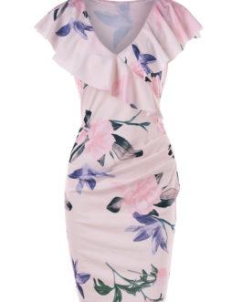 Flounce Collar Sheath Dresses