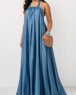 Halter Neck Backless Maxi Dresses