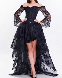 High Low Two Piece Corset Dress