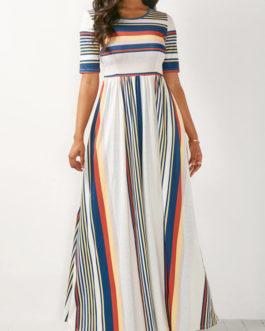 High Waist Maxi Dress
