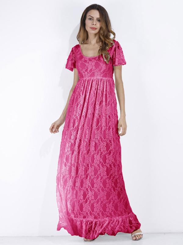 1a99208073c9 Lace Long Dress White Women Short Sleeve Ruffle Boho Maxi Dress. Sale!  Previous Product · Next Product. 🔍.  80.00  62.99