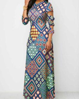 Ladder Cutout Sleeve Maxi Dresses