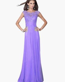 Maxi Prom Dress 2018 Blue Applique Sleeveless Long Party Dress Women Summer Dress