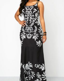 Open Back Sleeveless Maxi Dresses