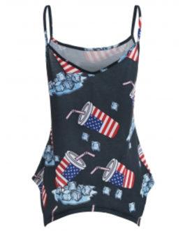 Patriotic American Flag Cami Top