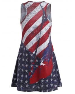 Patriotic American Flag Tunic Dresses