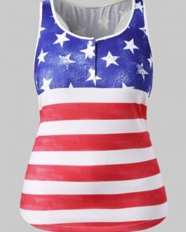 Plus Size American Flag Patriotic Tank Top
