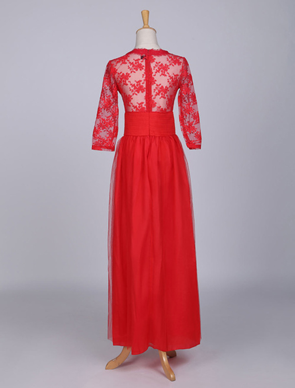 aa84a9e96d7 ... Red Maxi Dress Long Sleeve Lace Illusion Sweetheart Long Prom Dresses  For Women. Sale! Previous Product · Next Product. 🔍.  60.00  42.99