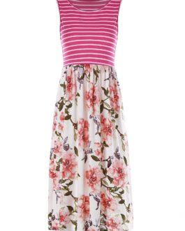 Round Neck Floral Dress