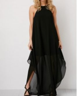 Sleeveless Cutout Back Maxi Dress