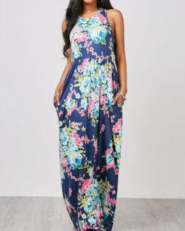 Sleeveless Floral Maxi Dresses
