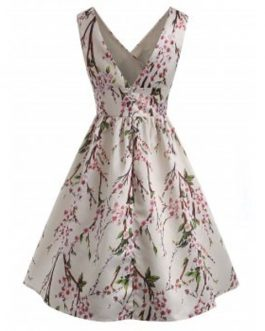 Sleeveless Floral Swing Dresses