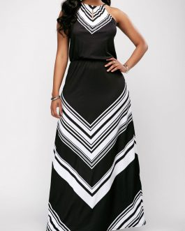 Sleeveless High Waist Maxi Dresses