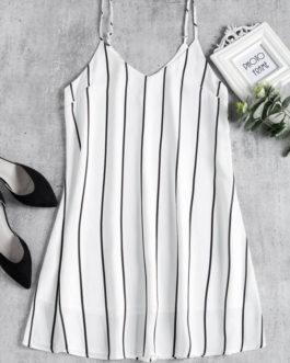 Striped Midi Shift Slip Dresses