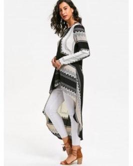 Tribal High Low Long Sleeve Dresses