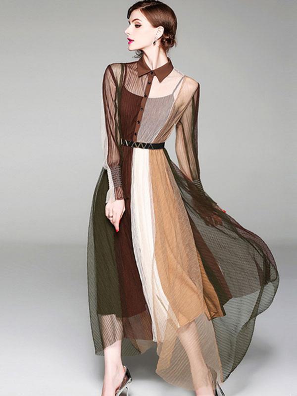 Sheer Long Dress