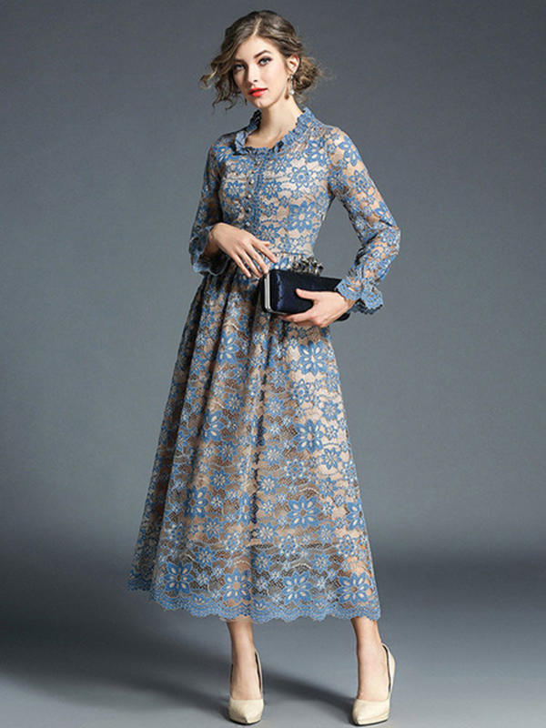 4f2b38b21a96 ... Women Lace Dress Frill Pleated Long Sleeve Light Blue Women Spring Dress.  Sale! Previous Product · Next Product. 🔍. $90.00 $70.99