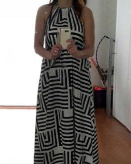 Women's Slip Dress Striped High Low Dress