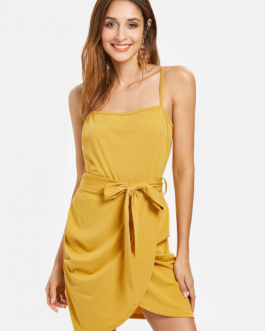 Belted Cami Dress