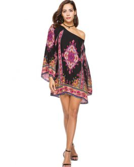 Boho Flared Sleeve Ethnic Dresses