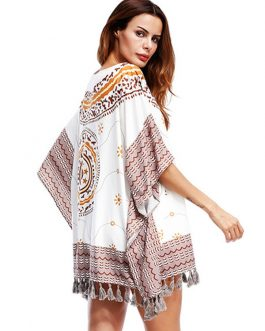 Boho Shift Ethnic Half Sleeve Short Dresses