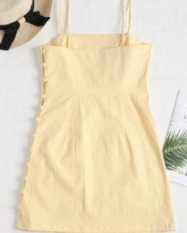 Cami Side Buttoned Mini Dress