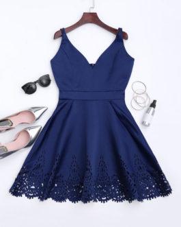 Cutwork Hem Little Prom Dresses