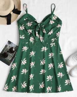 Floral Knotted Cami Dresses