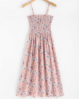 Floral Smocked Cami Midi Dresses