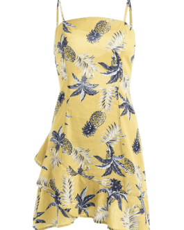 Pineapple Knotted Cami Dress