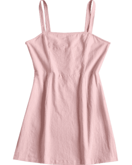 Plain Smocked Mini Dress