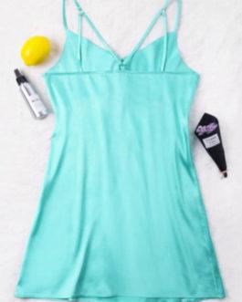 Satin Strappy Mini Party Dress