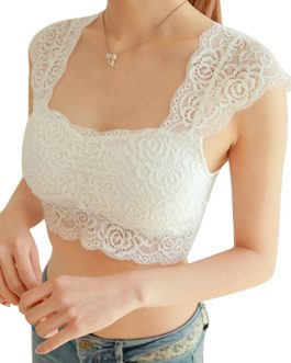 Sleeveless Lace Small Crop Sexy Camisole