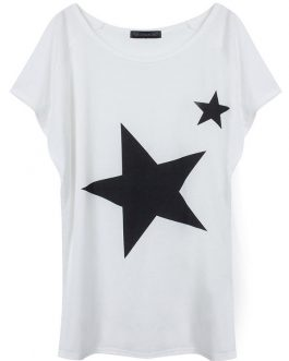 Star Leisure Loose Short Sleeve T-shirt